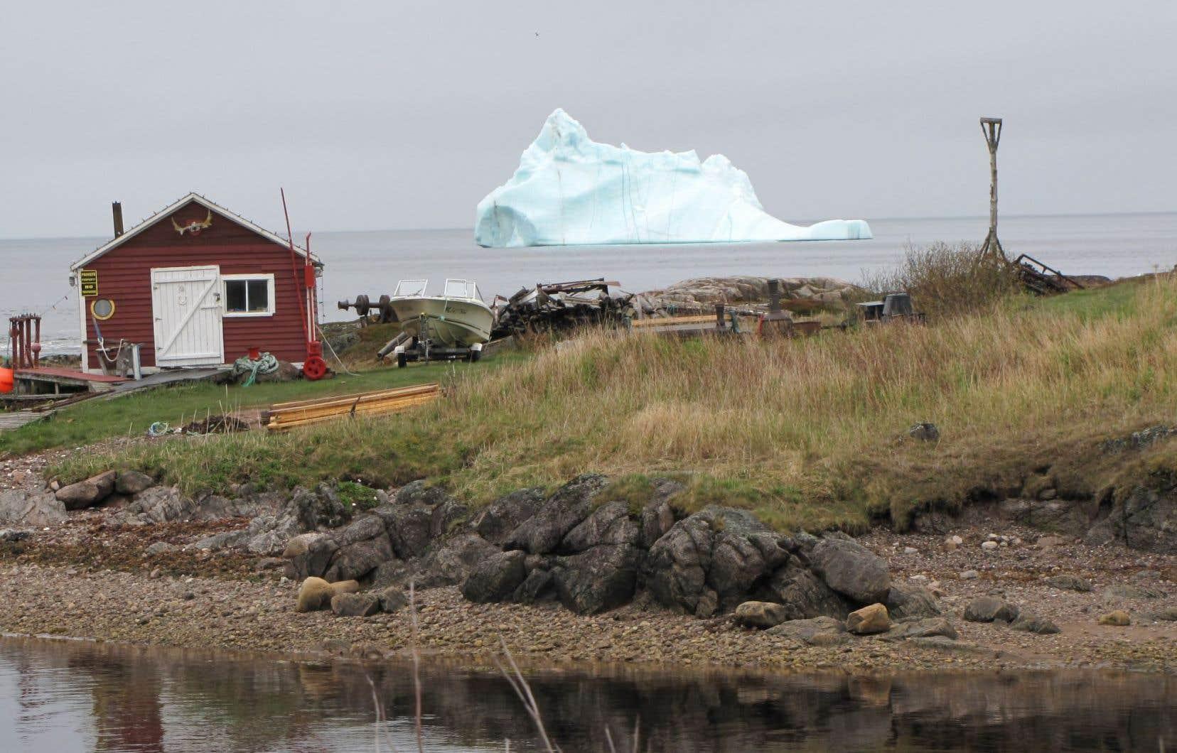 Un iceberg vu de la route 510, entre Red Bay et L'Anse-au-Clair