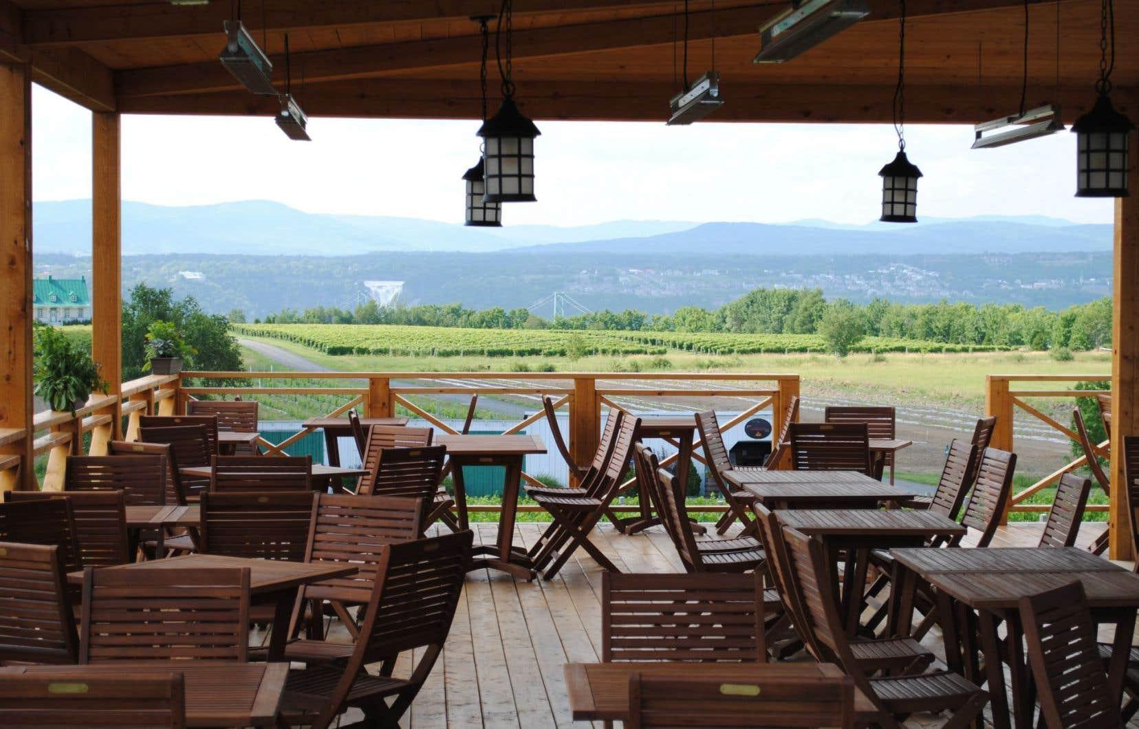 Le petit frère du restaurant Panache de l'hôtel, Panache mobile, est situé dans un décor champêtre, au beau milieu du vignoble de Sainte-Pétronille à l'île d'Orléans.