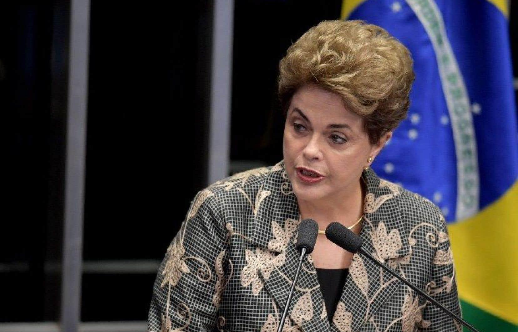 Si Dilma Rousseff est écartée du pouvoir, elle ne pourra plus occuper de fonctions publiques pendant huit ans.