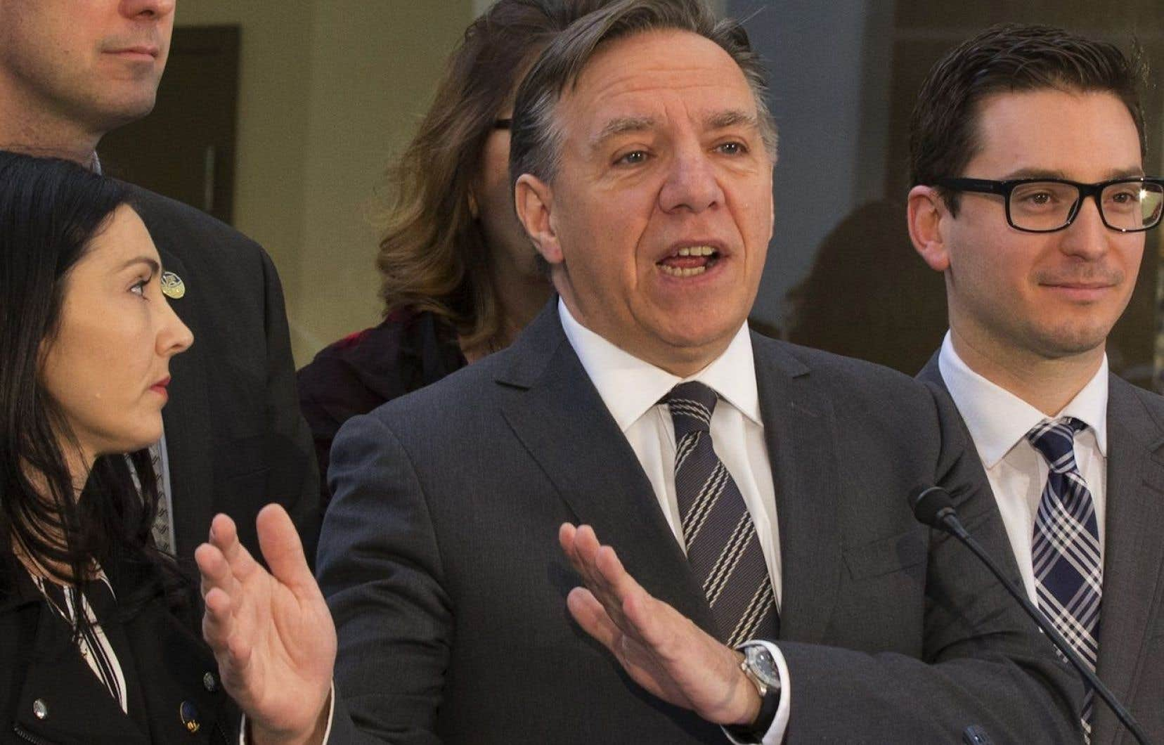 Le chef de la CAQ, François Legault