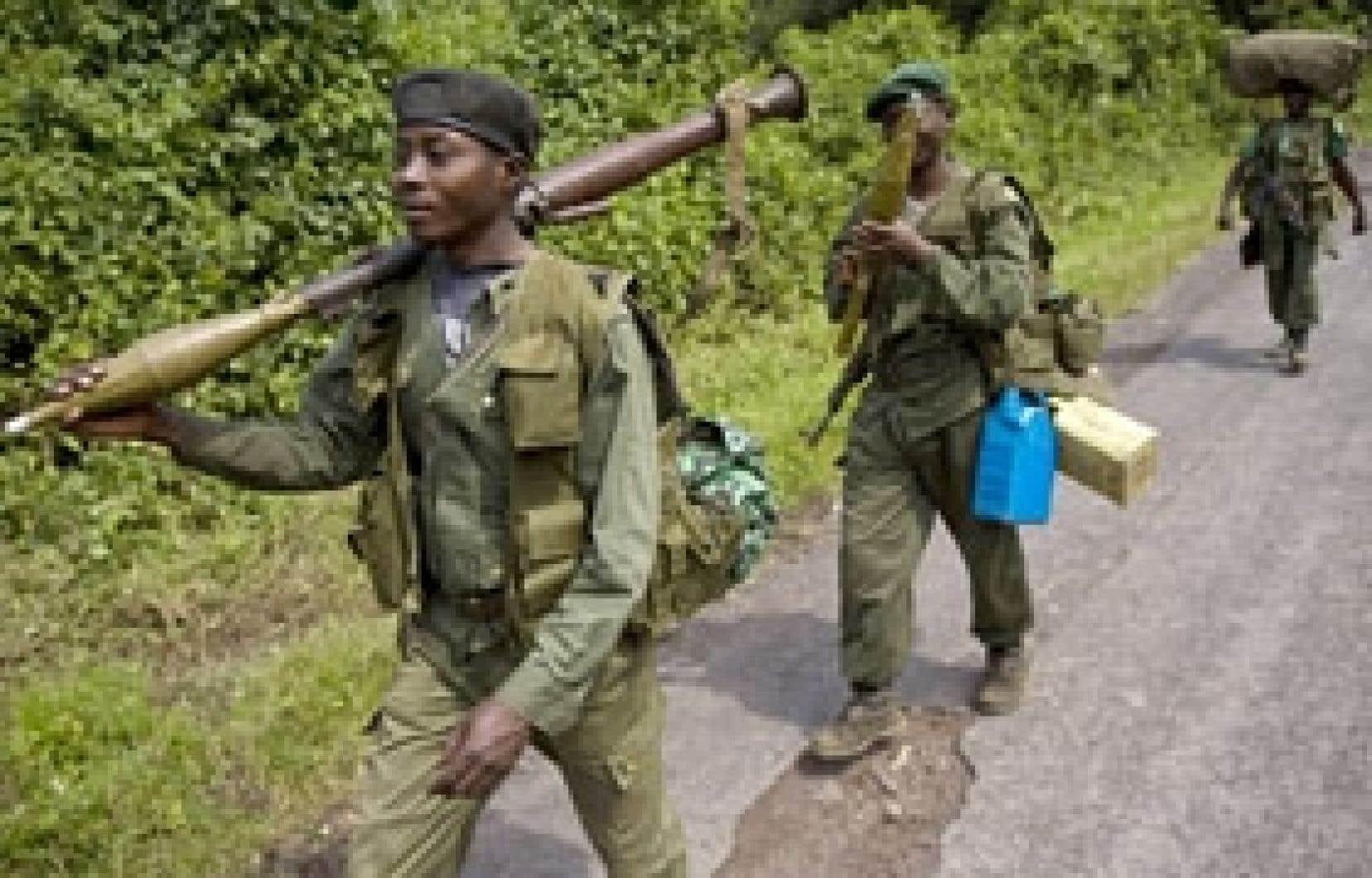 Des soldats congolais dans la région de Goma