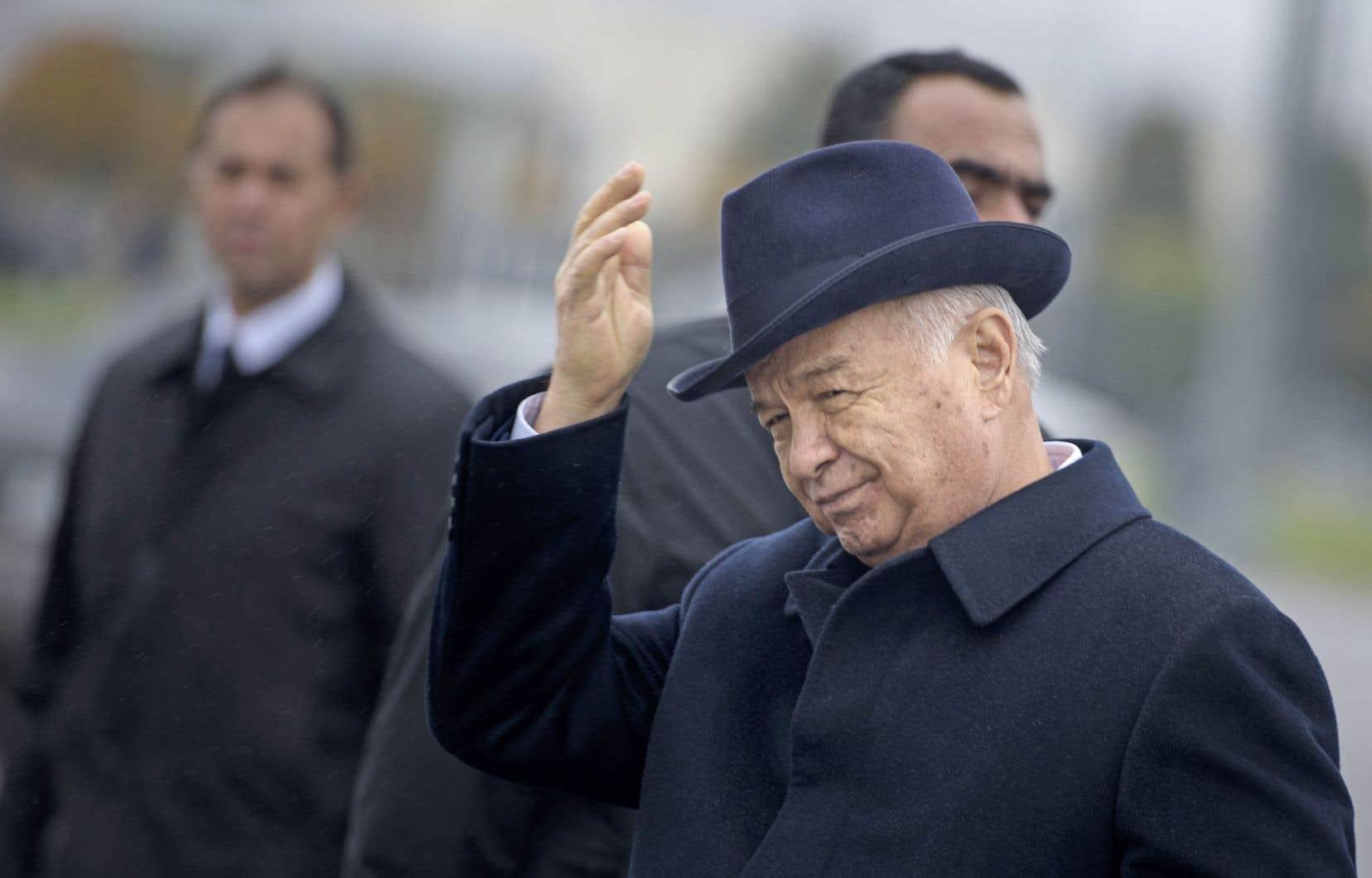 L'ex-président ouzbek Islam Karimov en novembre 2015