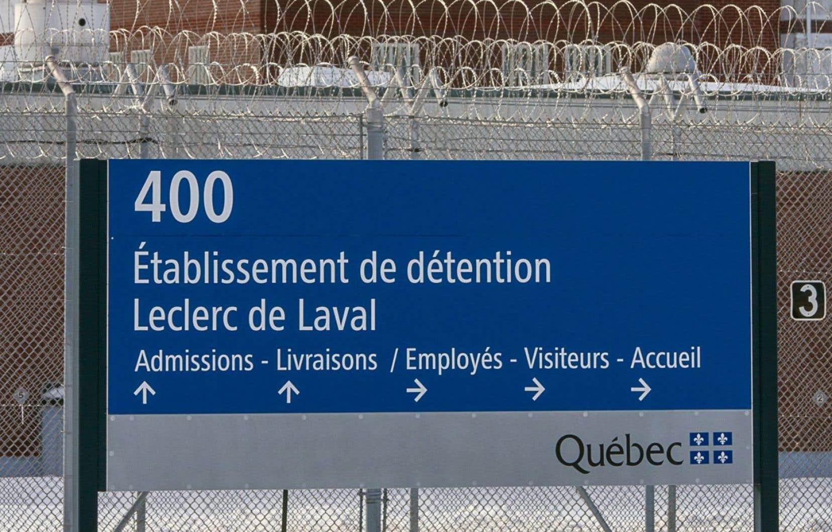 La prison Leclerc, à Laval, est mixte depuis la fermeture de la prison Tanguay.