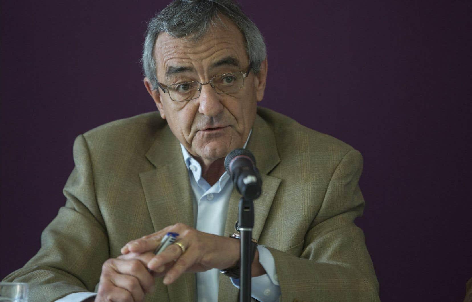 L'un des organisateurs du rassemblement, Jean Lacharité, vice-président de la CSN