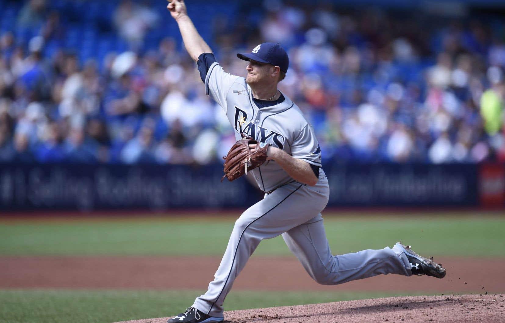Le lanceur Alex Cobb, des Rays, effectuait un retour au jeu.