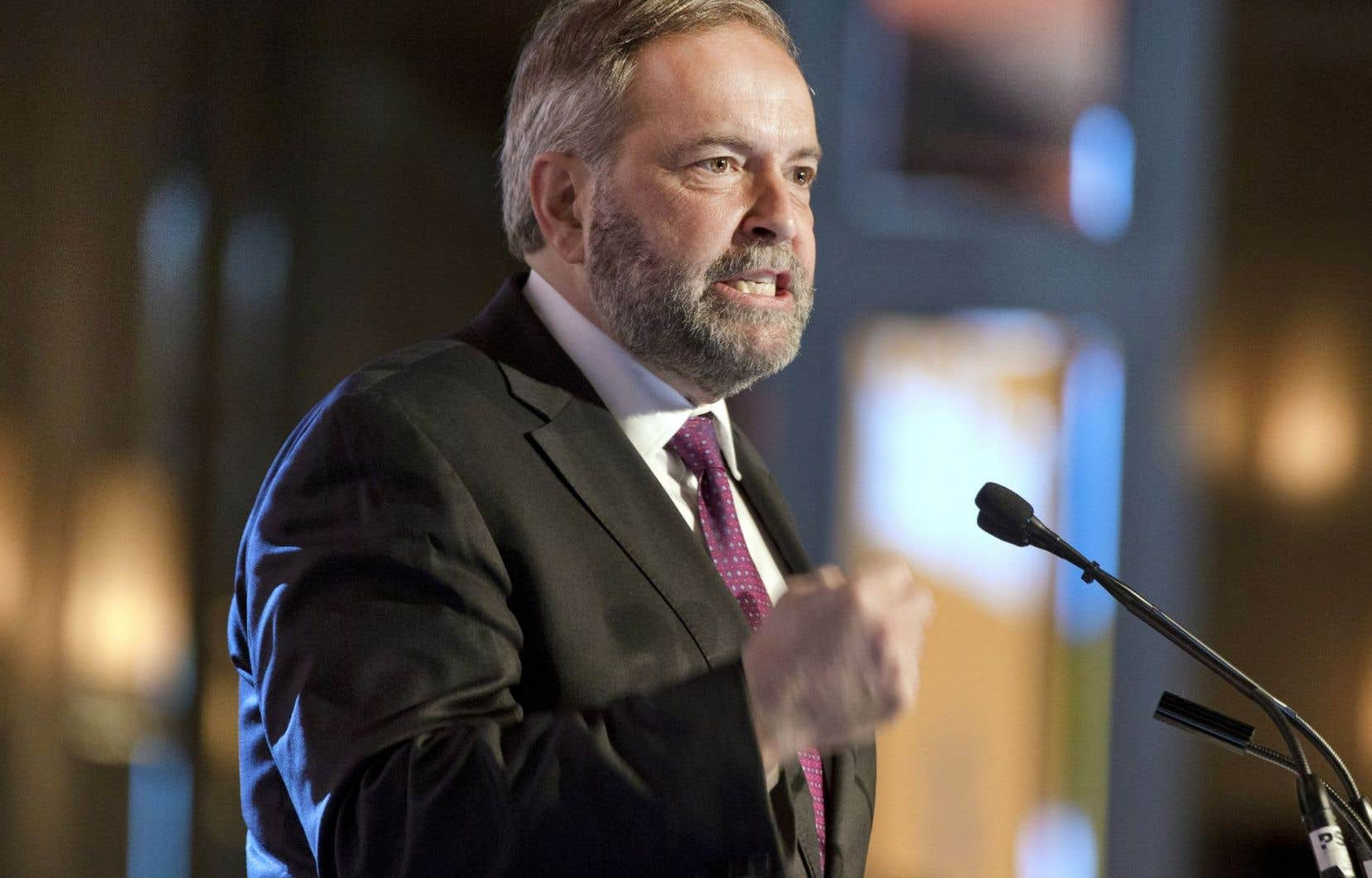 Le chef du NPD, Thomas Mulcair