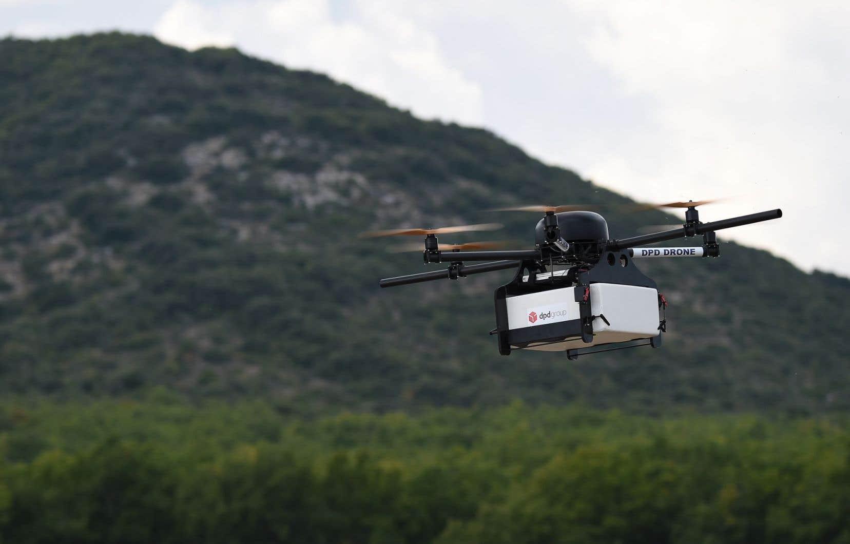 C'est encore l'imagination, pour l'instant, qui répond aux questions de proche avenir sur la livraison de livres par drone.