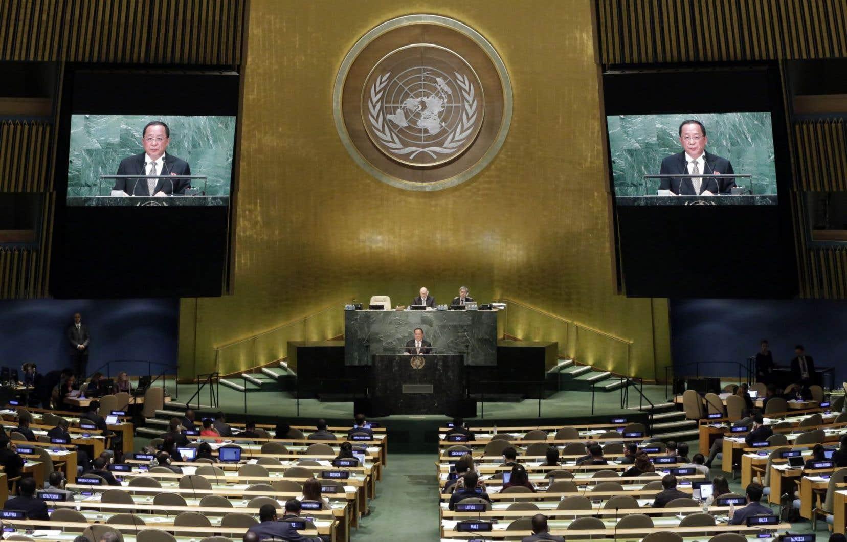 Le ministre nord-coréen des Affaires étrangères, Ri Yong-ho, s'est adressé vendredi à l'Assemblée générale de l'ONU.