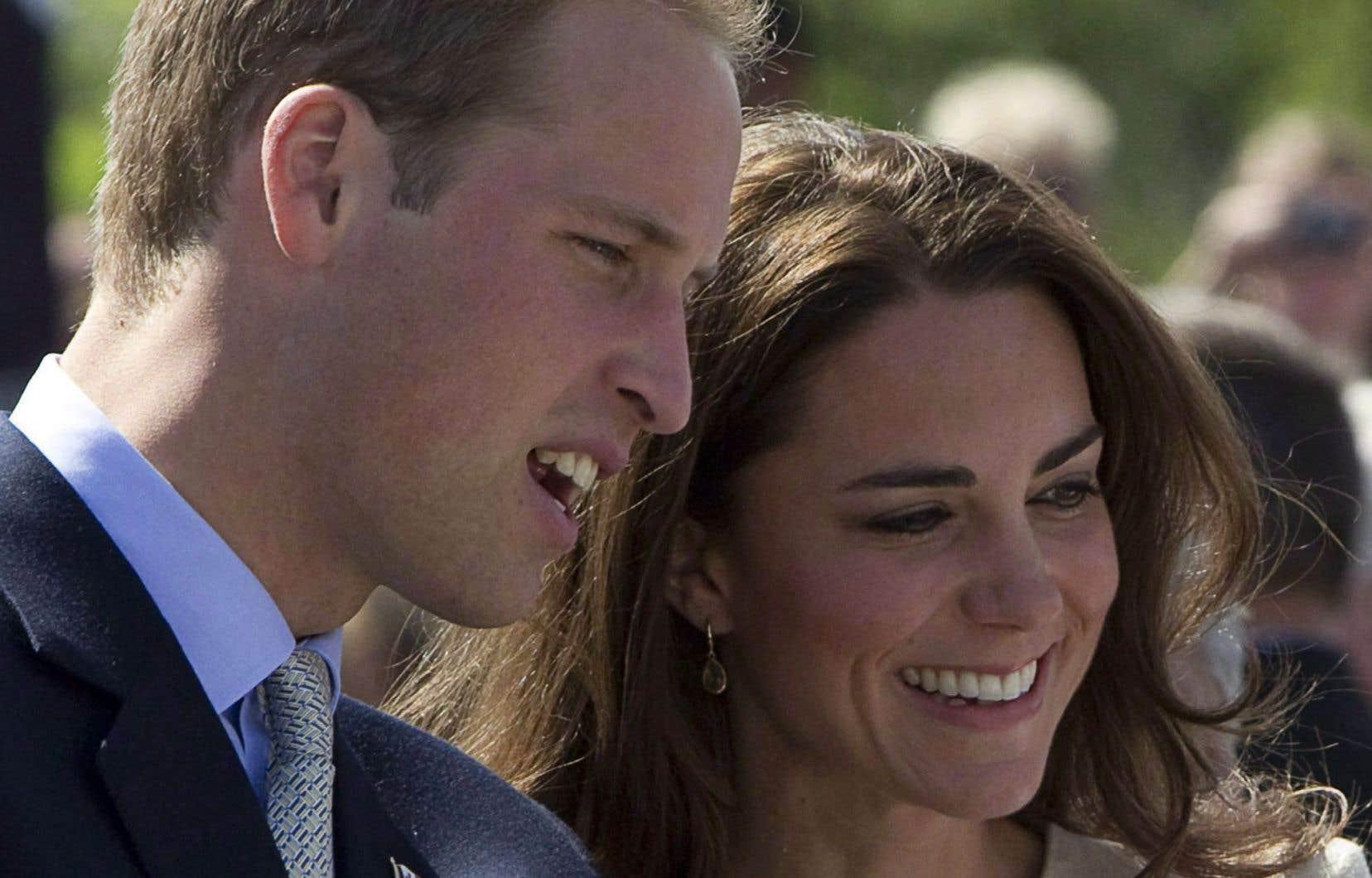Le prince William et sa femme Kate Middleton
