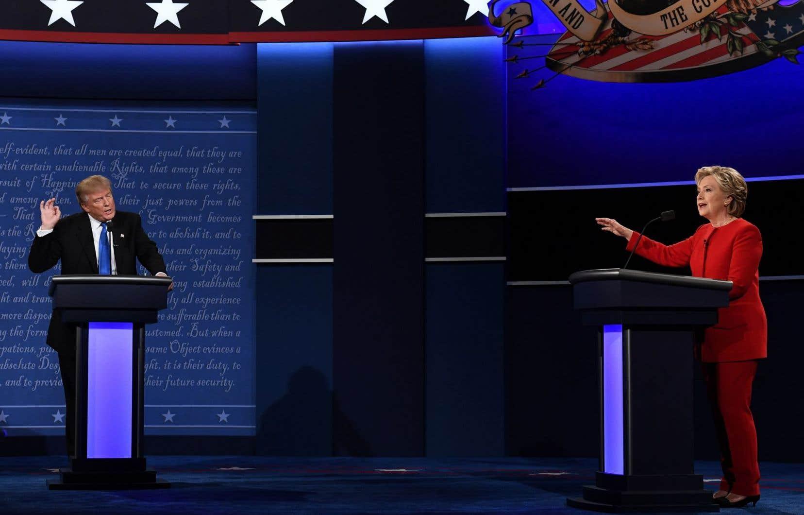 <p>Hillary Clinton et Donald Trump ont croisé le fer pendant 90 minutes.</p>
