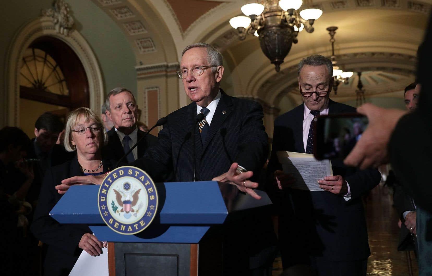 Le chef de la minorité démocrate à la Chambre haute,Harry Reid