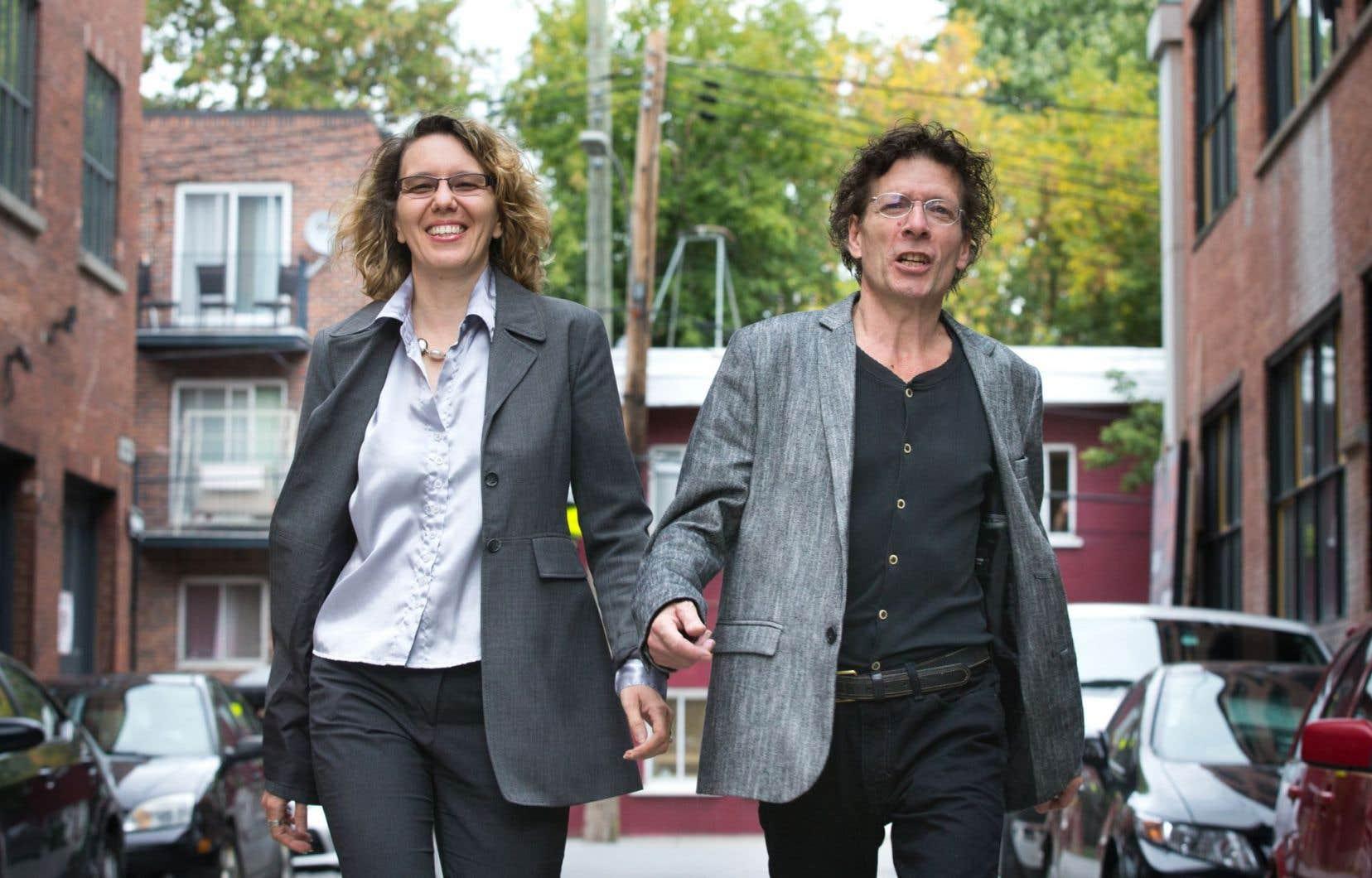 Ioana German, directrice musicale du chœur La Muse, et le compositeur André Pappathomas