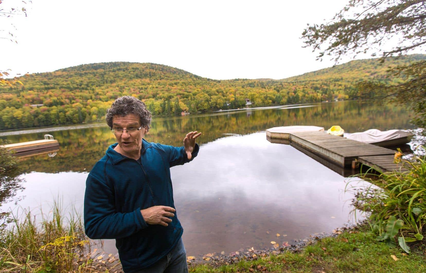 Vincent Piette craint pour la survie des plans d'eau qui se trouvent dans la tête du bassin versant de la rivière Saint-Charles.
