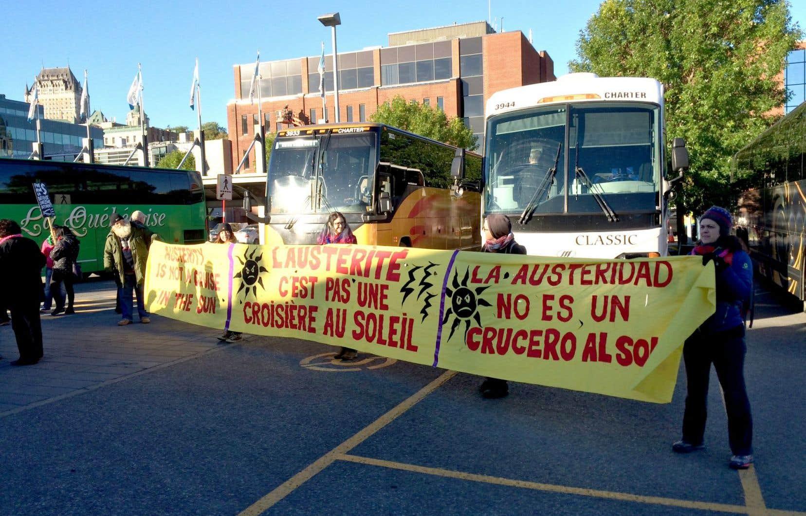 Au moment de remettre leur itinéraire au SPVQ, les organisateurs se sont butés au refus des policiers.