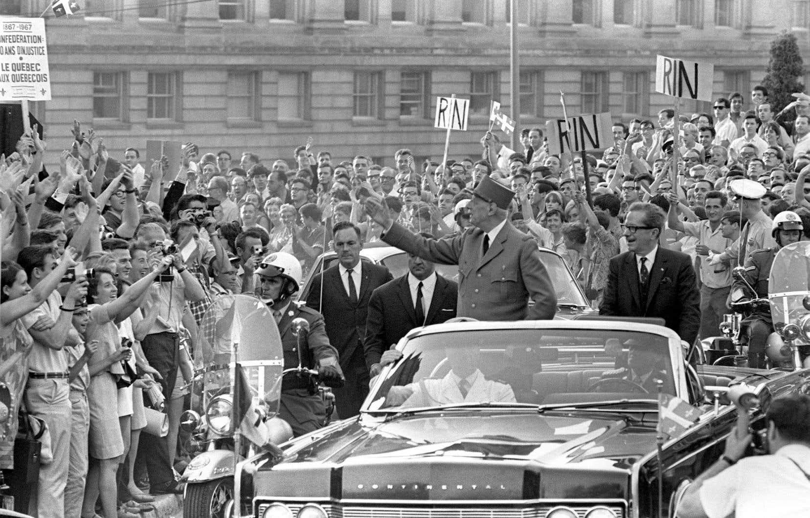 Le général de Gaulle à Montréal en 1967