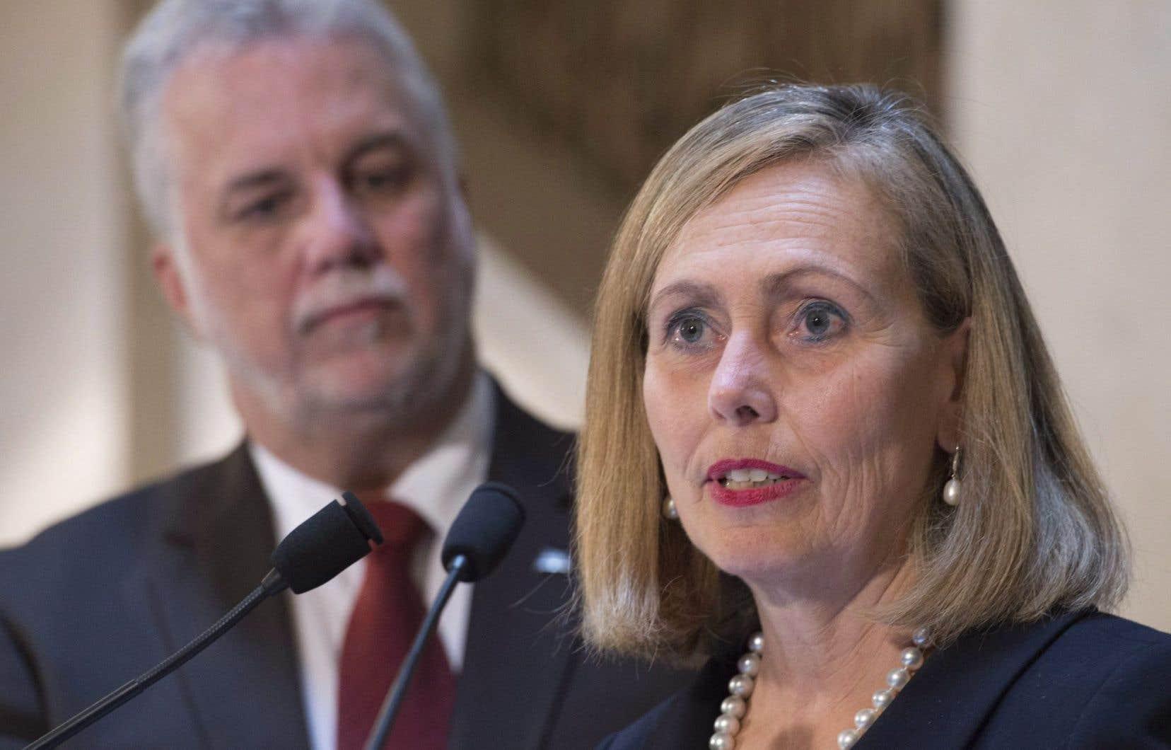 Monique Leroux a été nommée mercredi à la tête d'un groupe de 27 personnalités d'affaires qui conseilleront le gouvernement Couillard au sujet de l'économie.