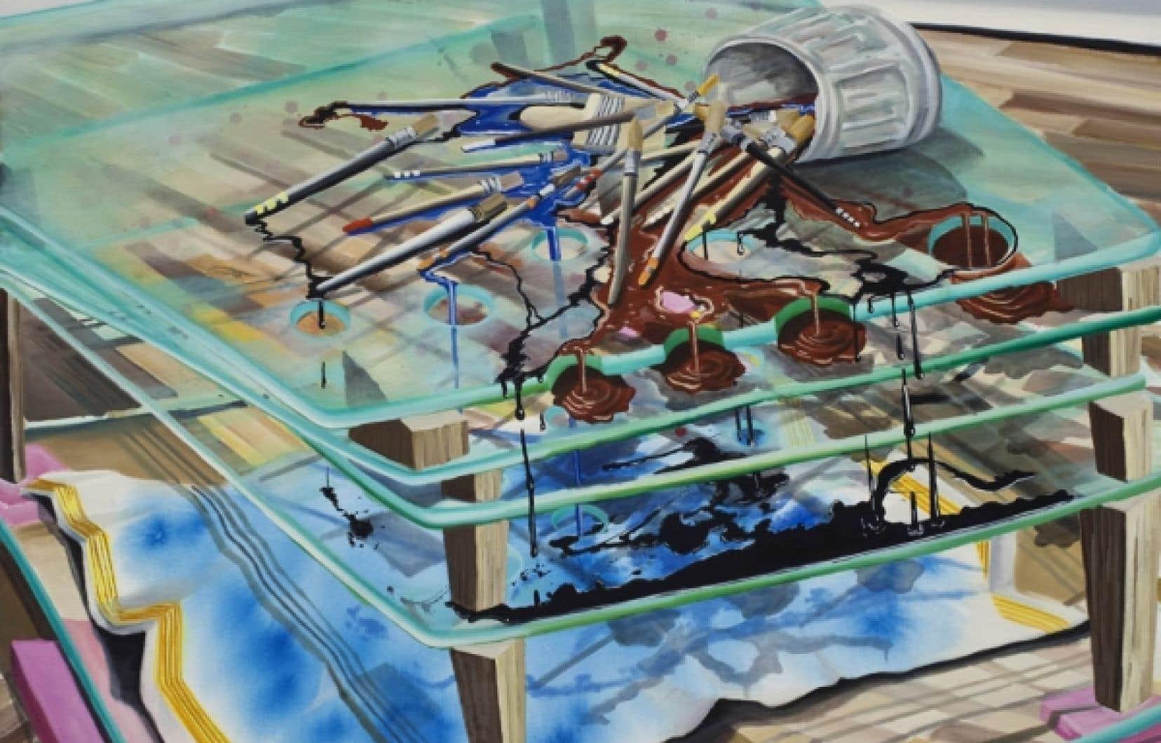 Spills in a Safe Environment, 2009, Etienne Zack, avec la permission de l'Equinoxe Gallery de Vancouver