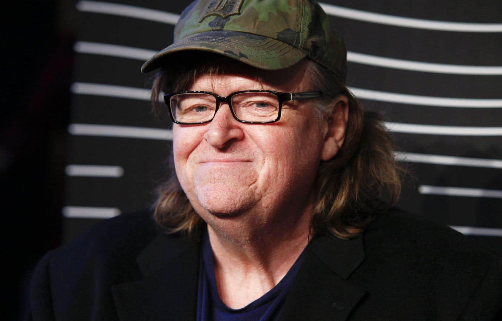Michael Moore a filmé une représentation de son spectacle <em>Michael Moore in TrumpLand</em> à Wilmington, en Ohio, qui sert de base au documentaire.