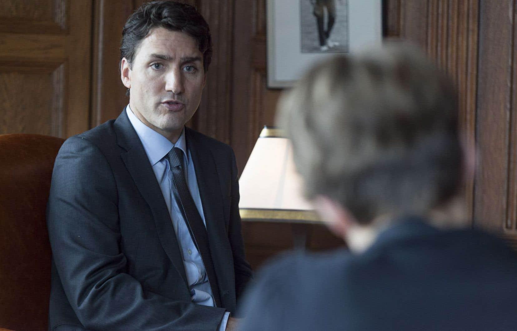 Le premier ministre, Justin Trudeau, n'entend pas s'immiscer dans le débat québécois sur la laïcité.