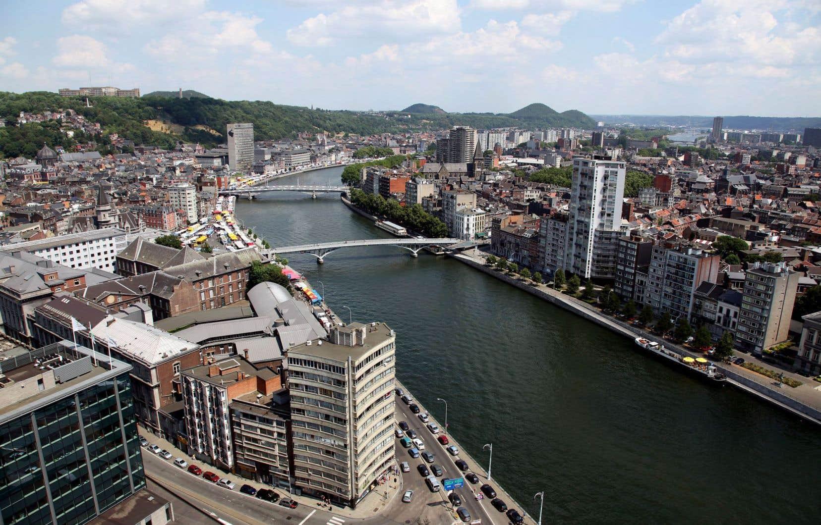 Vue sur Liège, en Wallonie, sur la Meuse