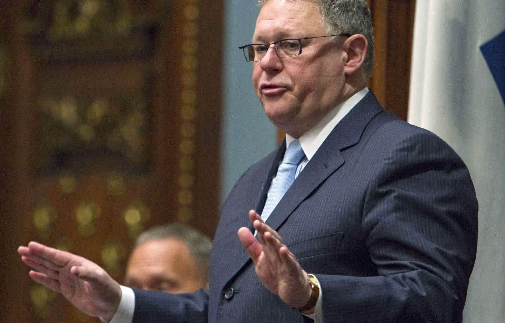 Le président de l'Assemblée nationale, Jacques Chagnon