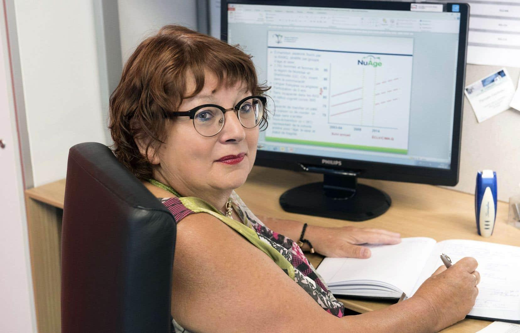 La professeure titulaire au Département de médecine de l'Université de Montréal et directrice du Réseau québécois de recherche sur le vieillissement, Pierrette Gaudreau
