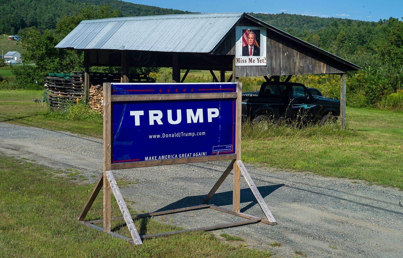 Les affiches favorables au candidat républicain se retrouvent surtout au nord de l'État.