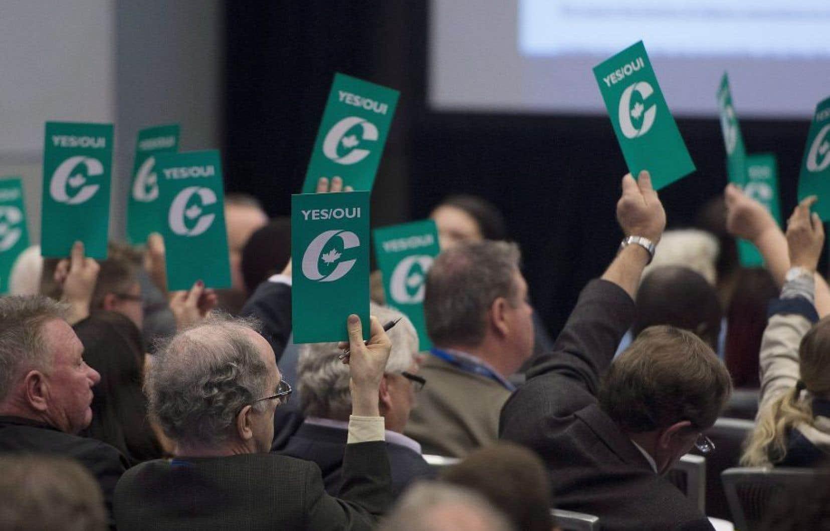 Des membres du parti conservateur au congrès de Vancouver, en mai dernier
