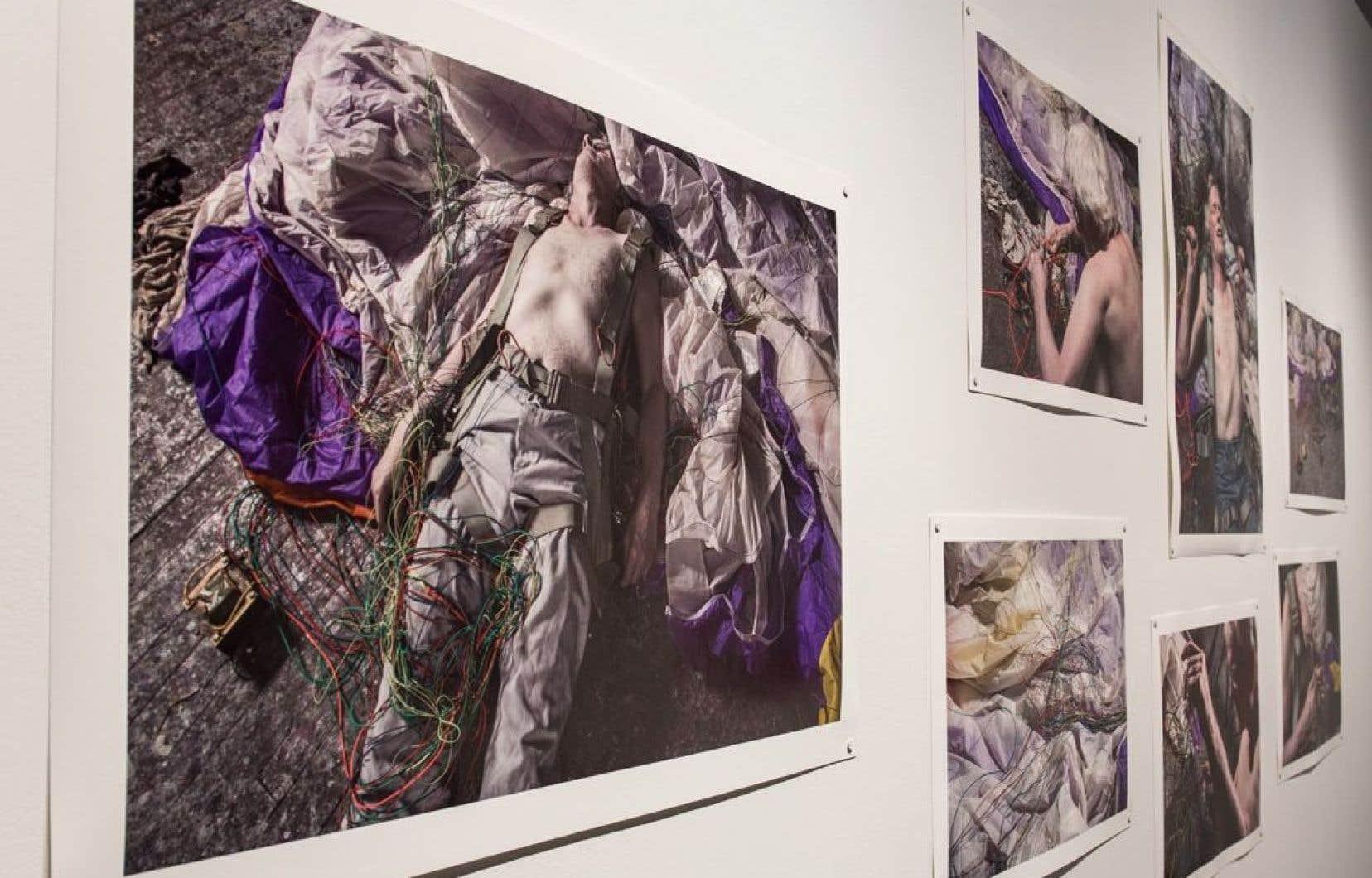 Vue de l'exposition «L'essor», de Matthieu Brouillard