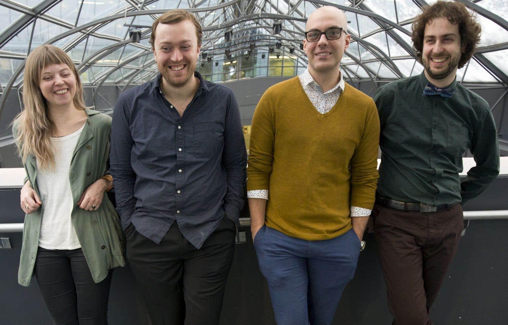 Sabrina Schroeder, Taylor Brook, Adam Scime et Symon Henry de ECM+ Génération 2016