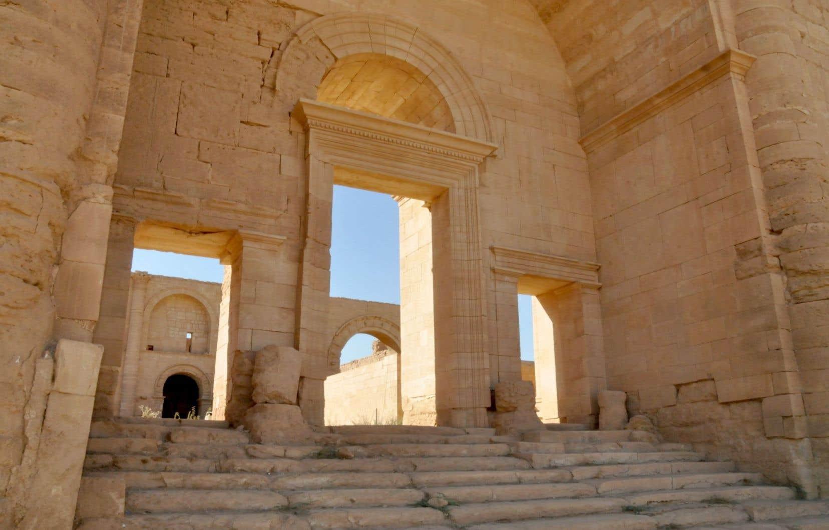 Hatra, ville fortifiée vieille de plus de 2000ans, est bien conservée.