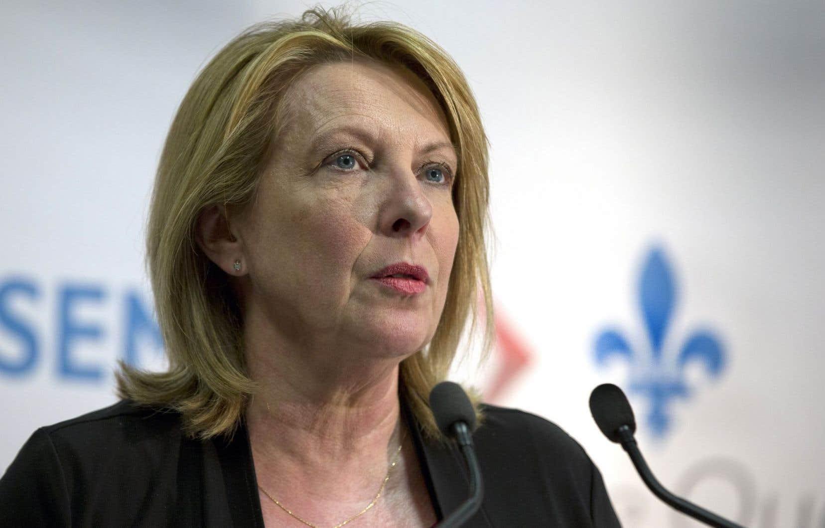 L'ancienne journaliste et la ministre actuelle des Relations internationales et de la Francophonie, Christine St-Pierre