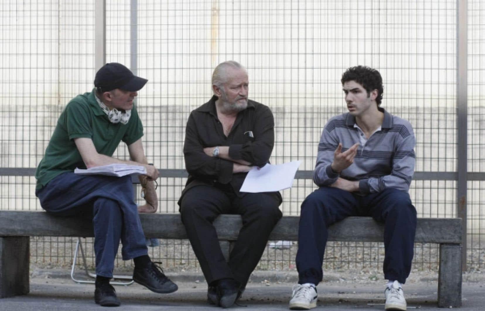 Jacques Audiard sur le plateau de tournage du Prophète