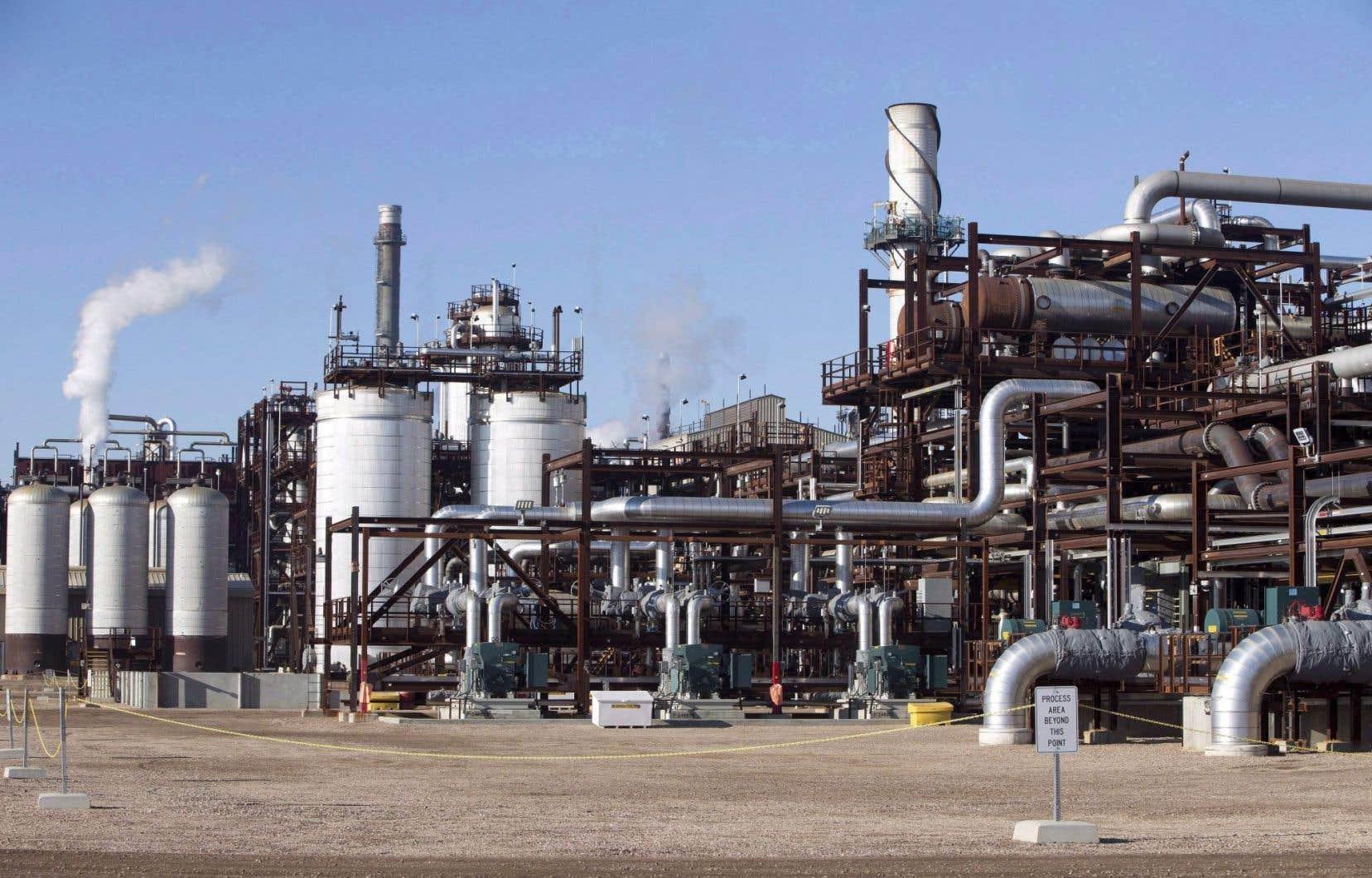 Les installations de captage et de stockage du carbone de Shell, à Fort Saskatchewan, en Alberta