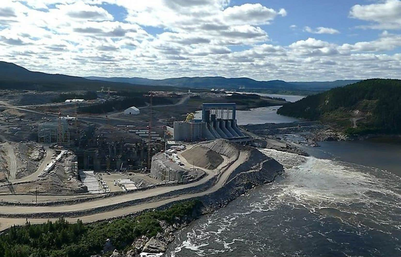 Vue aérienne du site de Muskrat Falls