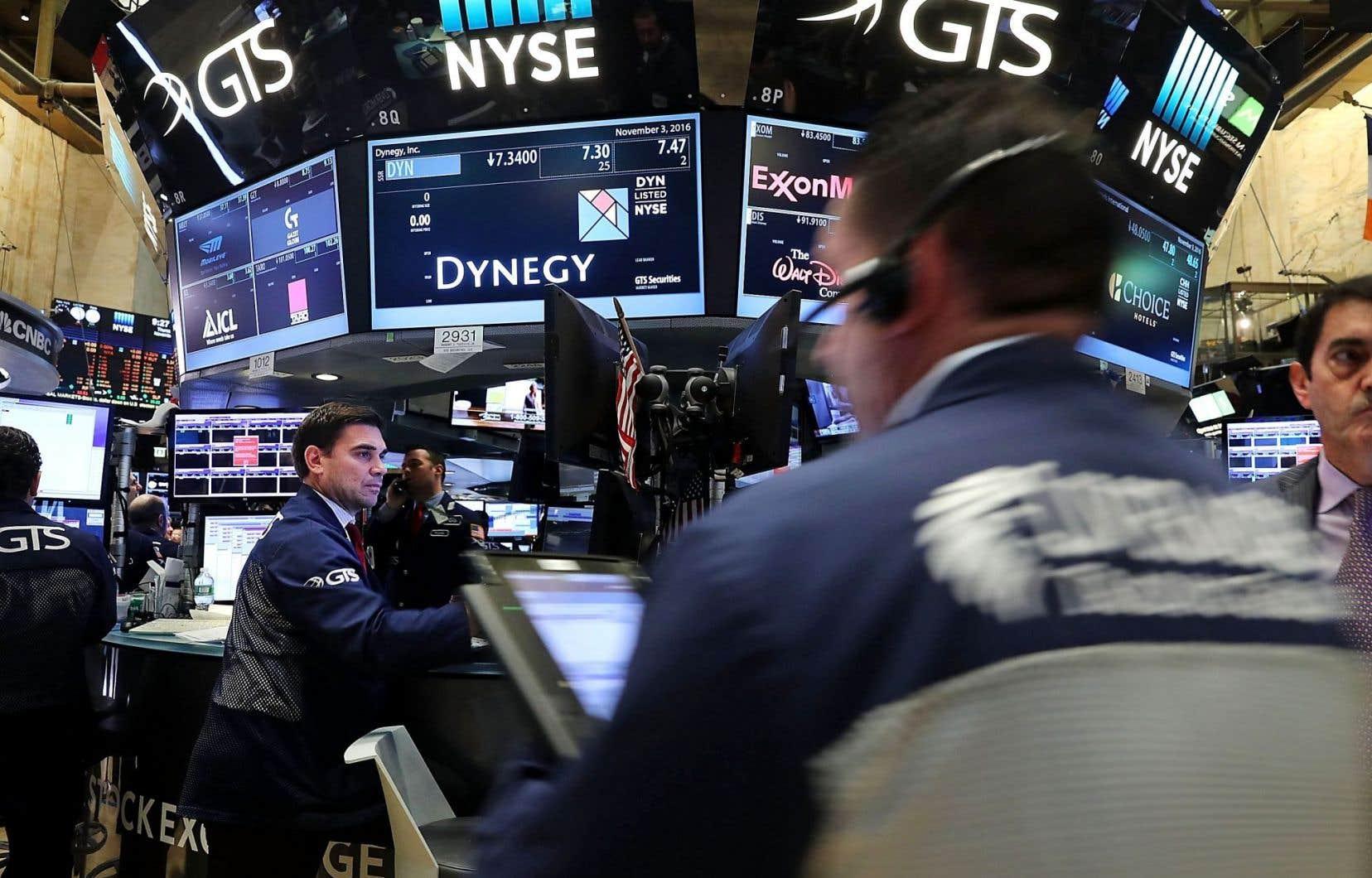 Sur le parquet de la Bourse de New York, on attend non sans inquiétude le résultat de l'élection présidentielle.
