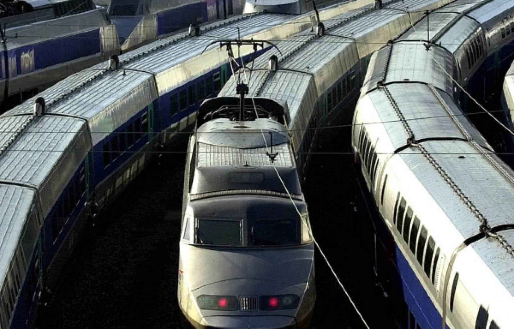 Le TGV parisien. Québec s'est entendu hier avec Washington pour évaluer la possibilité de  développer deux lignes de train à haute vitesse.