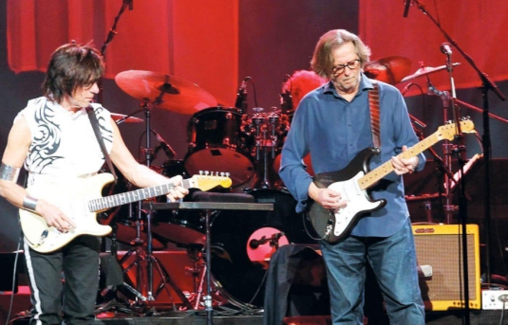 Jeff Beck et Eric Clapton
