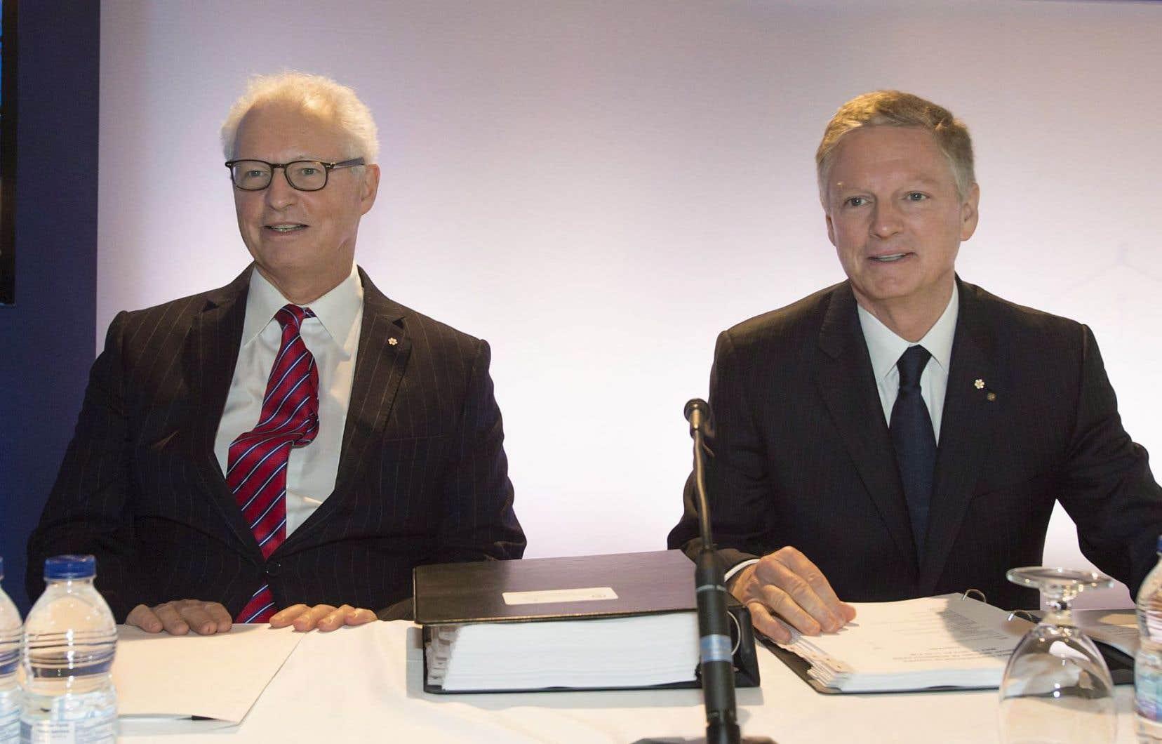 André (gauche) et Paul Desmarais, respectivement le président et le chef exécutif de Power Corporation.