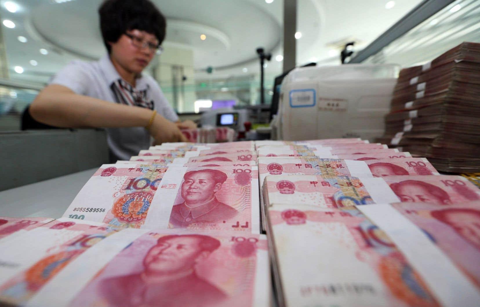 Le taux de référence du yuan avait été abaissé vendredi à son plus bas niveau depuis six ans.