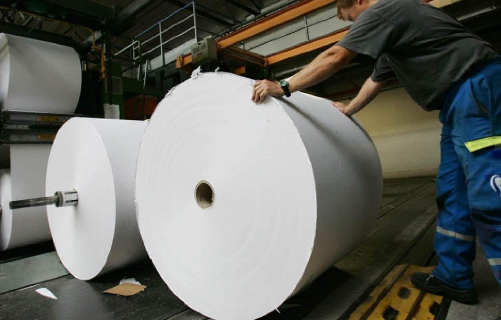 Le producteur de papier journal croule sous une dette de plus de 650 millions $US.