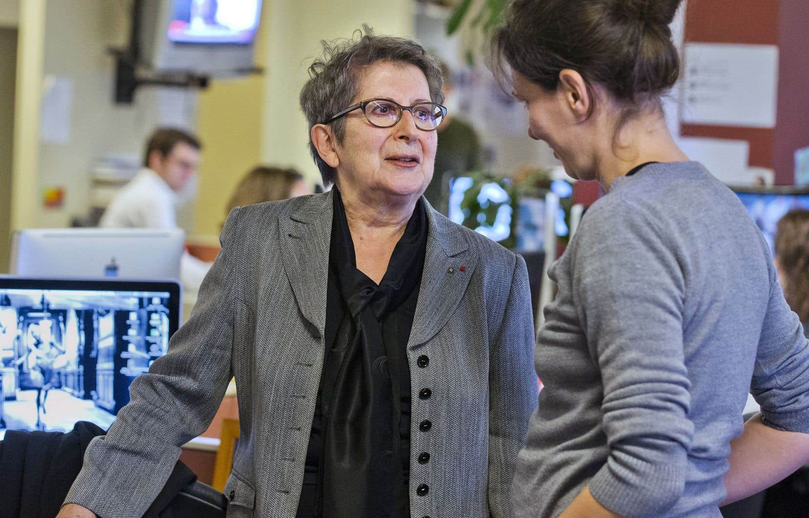 Lise Bissonnette était au «Devoir», vendredi, journal qu'elle a dirigé de1990 à1998.