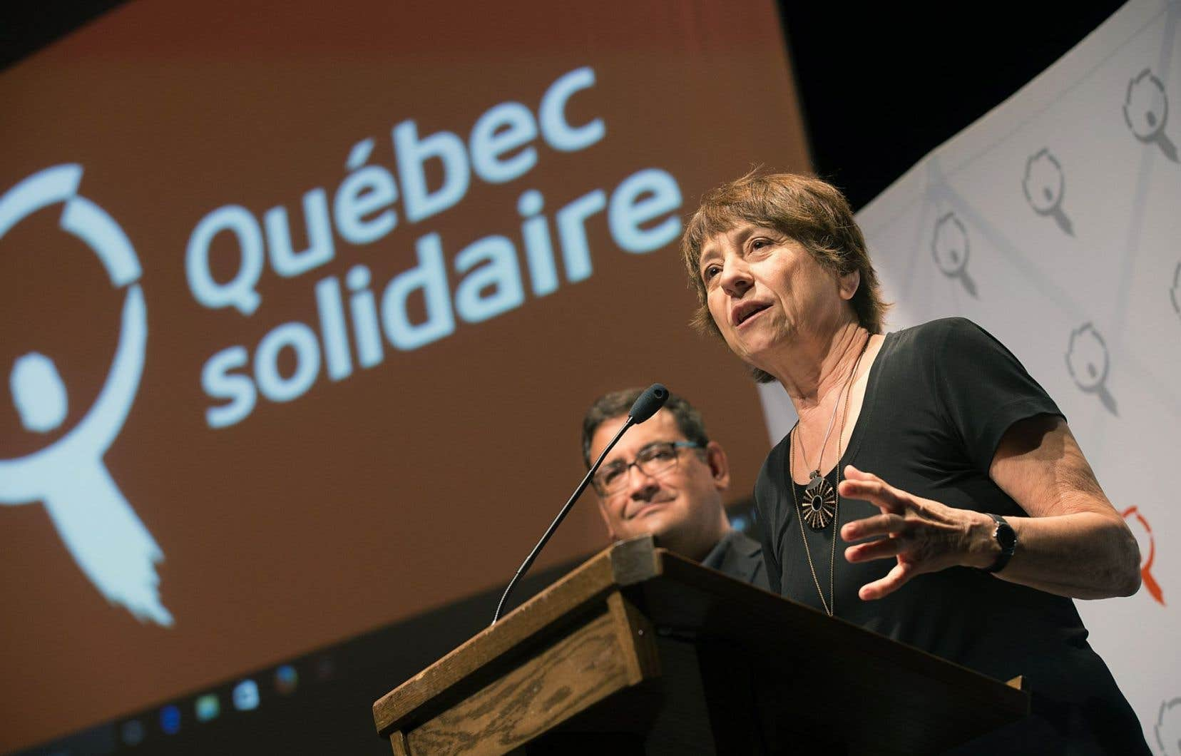 Les coprésidents du parti, Françoise David et Andrés Fontecilla
