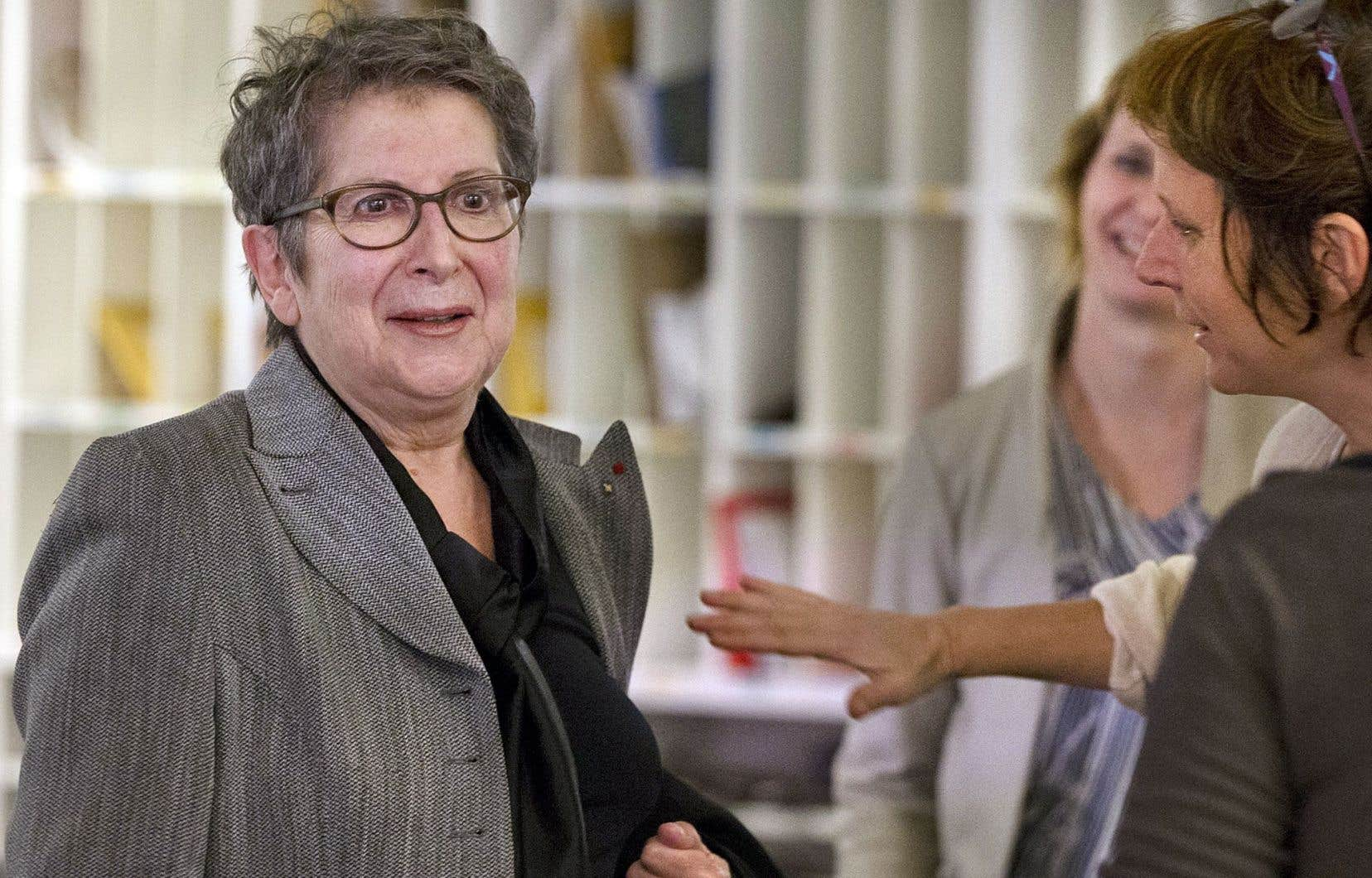 Lise Bissonnette a reçu le Prix hommage Judith-Jasmin lors du Congrès de la Fédération professionnelle des journalistes québécois le samedi 19 novembre.