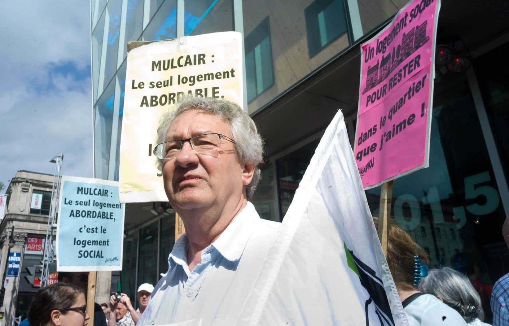 François Saillant lors d'une manifestation en 2015