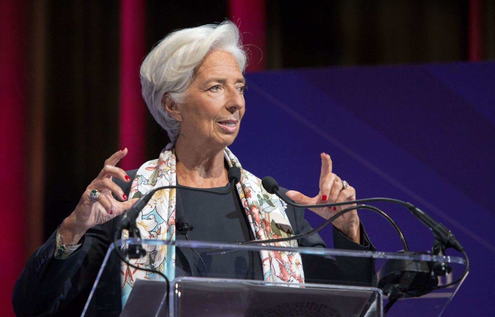 La directrice générale du FMI, Christine Lagarde, qualifie de «positive» la promesse de Donald Trump de mener un grand plan d'investissement aux États-Unis.