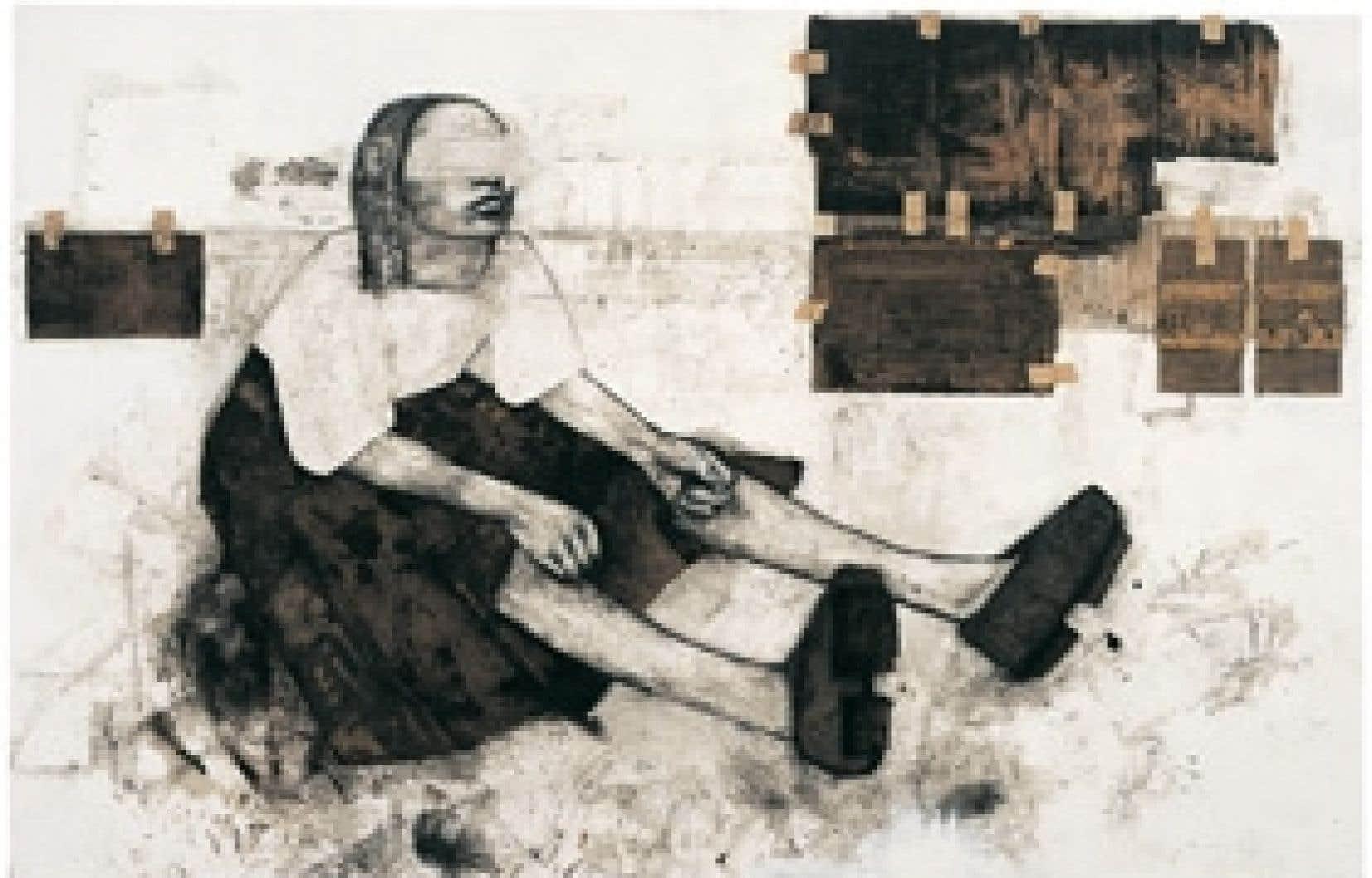 Femme de carton # 2, de Stéphanie Béliveau, 2004