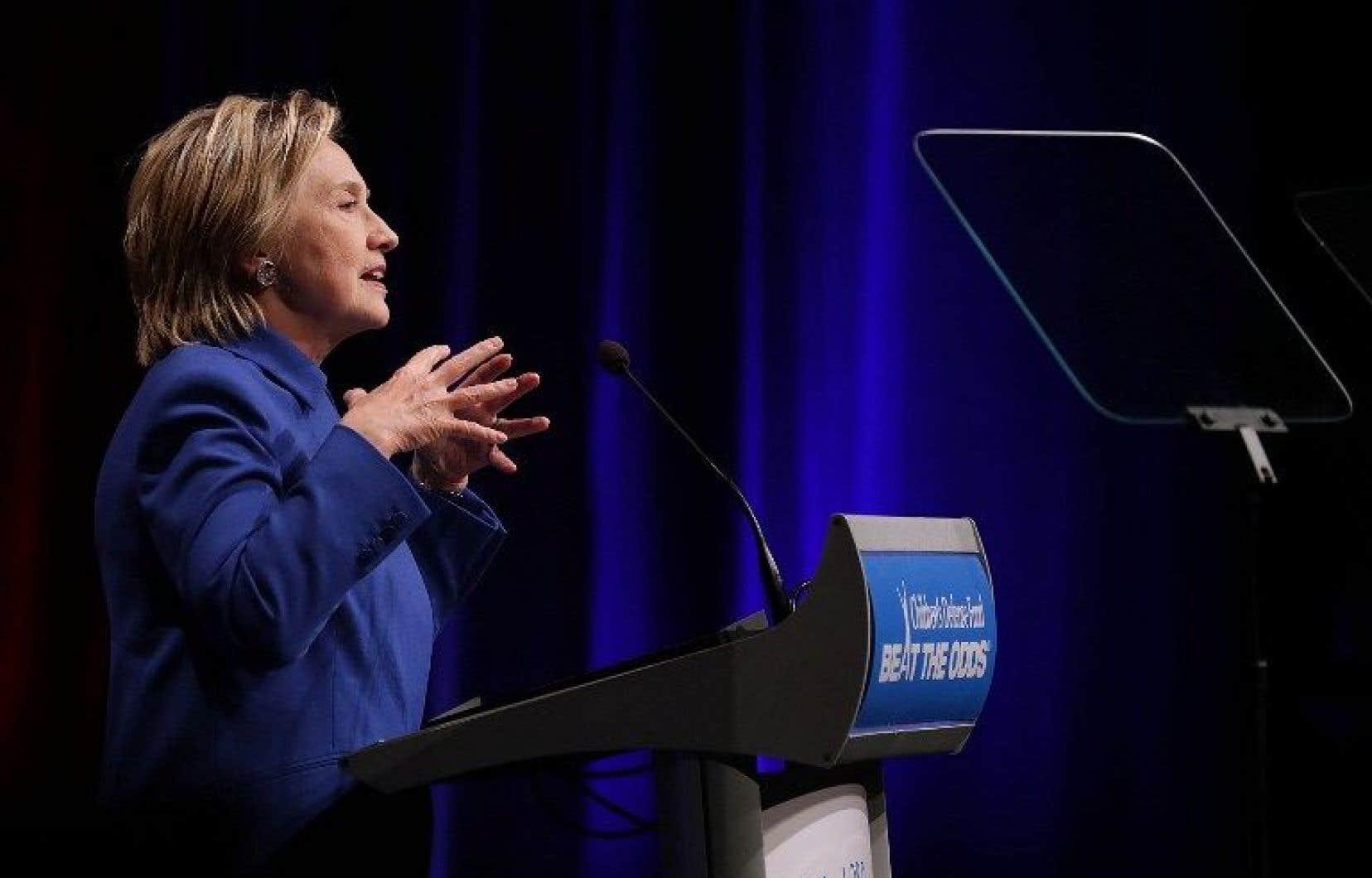 La candidate américaine battue à la présidentielle, Hillary Clinton