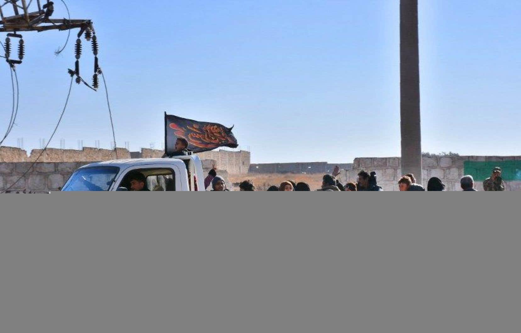Les déplacés en zone gouvernementale ont été emmenés «par l'armée vers des lieux sûrs».