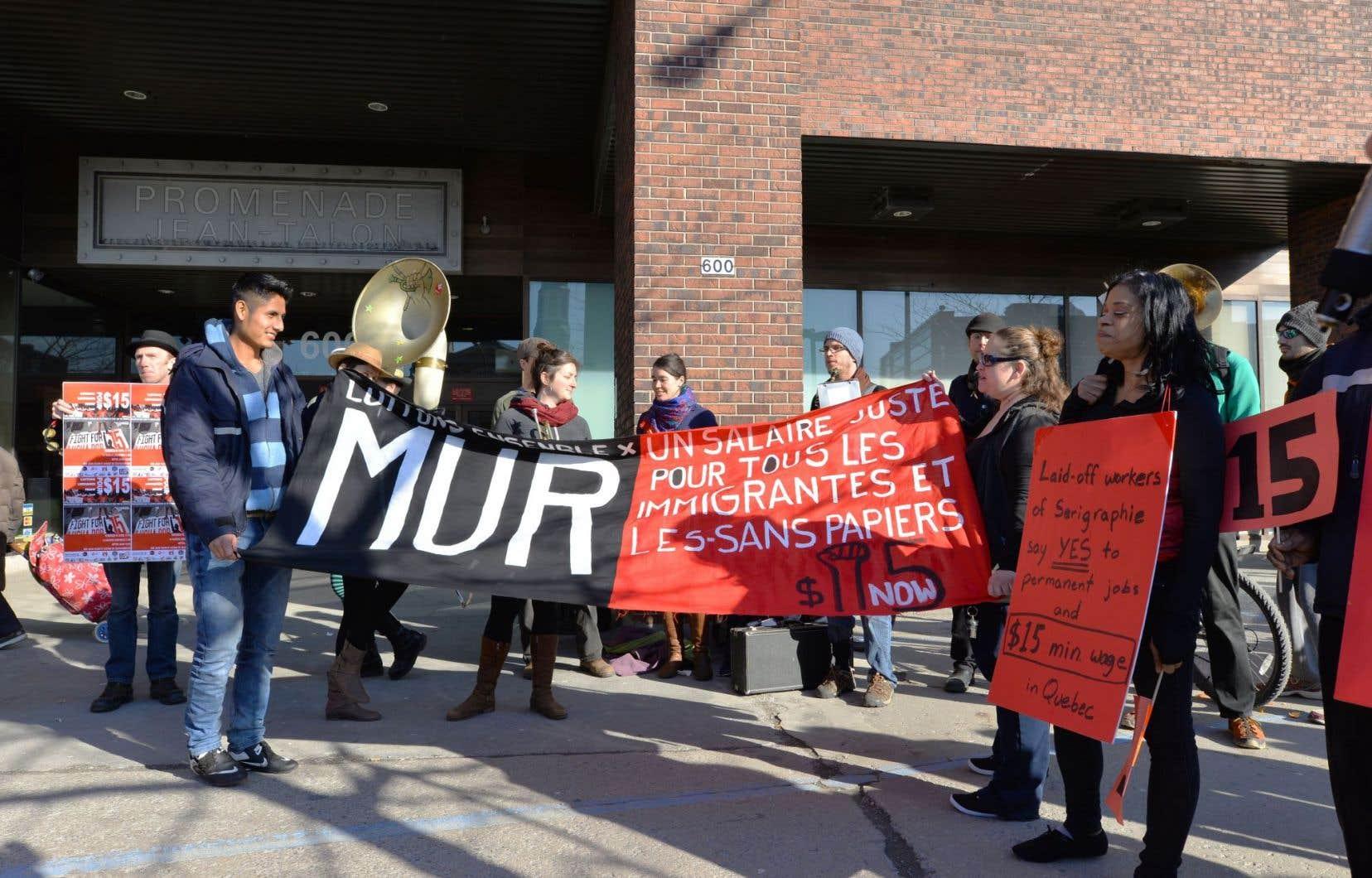 Manifestation en avril à Montréal en faveur du salaire minimum à 15$